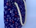 Летняя текстильная сумка для пляжа и прогулок Якоря фото 1