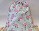 Летняя сумка-рюкзак для пляжа и прогулок Розовый фламинго фото