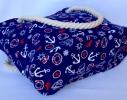 Летняя текстильная сумка для пляжа и прогулок Якоря фото 2