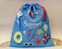 Летняя сумка-рюкзак для пляжа и прогулок Лазурное море фото