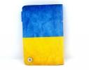 Кожаная кредитница на кнопке Флаг Украины фото 3