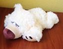 Игрушка-грелка Плюшевый Спящий мишка ванильный фото 1