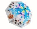 Детский зонтик Котики голубой фото 1