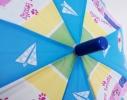 Детский зонтик Котики голубой фото 3