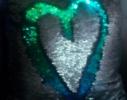 Подушка антистресс с пайетками-перевертышами хамелеон/серебро фото 1
