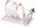 Сушка для посуды с отделением для столовых приборов фото