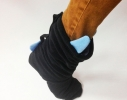 Тапочки Чертики черные с голубыми рожками фото 1