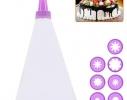 Кондитерский мешок с насадками Фиолет 18.5х10.5 см фото