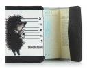 Кожаная обложка на паспорт Ежик фото 1