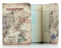 Кожаная обложка на паспорт путешественника фото 1