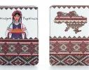 Кожаная обложка на паспорт Украинки фото