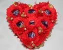 Букет из конфет Влюбленное сердце фото