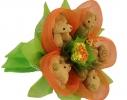Букет из мишек Оранжевый рай фото