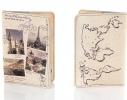 Кожаная обложка на паспорт Города Европы фото