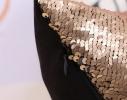 Подушка антистресс с пайетками-перевертышами черный/золото фото 1
