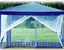 Павильон садовый с москитной сеткой Синий фото 8