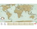 Скретч карта мира Scratch World Map на английском языке фото 1