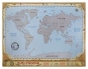 Scratch map на русском языке Карта открытий фото 1