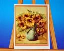 Картина на холсте по номерам Подсолнухи фото
