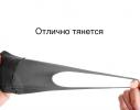 Трехслойная защитная маска многоразовая темно-серая фото 4