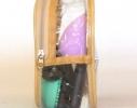Прозрачная косметичка для бассейна/сауны/путешествий (бежевая), купить, отзывы, цены, фото 3