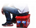 Ящик - пуфик для игрушек Веселый автобус с зверушками фото 2