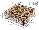 Коробочка для белья на 24 секции Молочный Шоколад фото 4