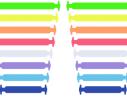 Косые cиликоновые АнтиШнурки для кроссовок и кед, 16шт. (длина: 38-68мм) фото 4