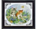 Набор для вышивки картины Котята 47х40см фото