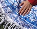 Пляжный коврик Мандала голубой, 150см фото 5