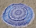 Пляжный коврик Мандала голубой, 150см фото 4