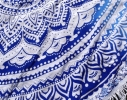 Пляжный коврик Мандала голубой, 150см фото 3