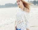 Пляжный коврик Мандала голубой, 150см фото 2