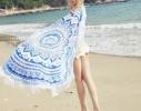 Пляжный коврик Мандала голубой, 150см фото 1