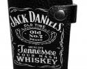 Кожаная кредитница на кнопке Jack Daniel's 10 карт фото