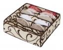 Коробочка для белья на 7 секций Молочный Шоколад фото