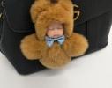Меховой брелок на сумку Куколка фото 6