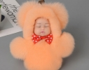 Меховой брелок на сумку Куколка фото 4