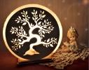 Соляная лампа Золотое дерево фото
