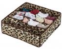 Коробочка для белья на 24 секции леопард фото