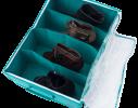 Органайзер для обуви на 4 секции Лазурь фото 1