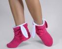 Тапочки Зайчики розовые с белыми ушами фото 1