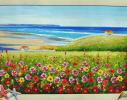 Набор для вышивки картины Цветочная Поляна 60х48см фото