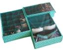 Комплект органайзеров для белья с крышкой Мохито 3 шт фото