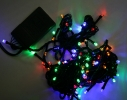 Гирлянда светодиодная LED 100 с черным проводом фото 2