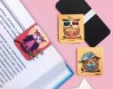 Набор магнитных закладок для книги Совушка на ветке Mr. Bookmark фото