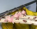 Набор мягких вешалок Винтаж розы бордовый нюд фото 3