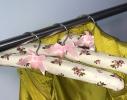 Набор мягких вешалок Винтаж розы бордовый нюд фото 4