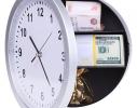 Настенные часы-сейф Safe clock Серебристые фото 1
