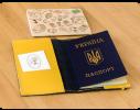 Кожаная обложка на паспорт Небо - Лимон фото 1